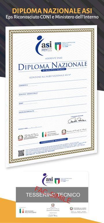 diploma tesserino asi